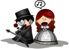 Clipart of the man and woman in opera