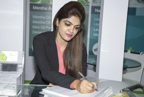 working office woman