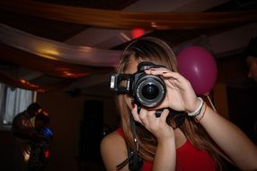 Photo of Girl photographer