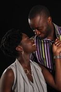 portrait of african couple in love