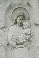 Photo of Stone statue of mother of god