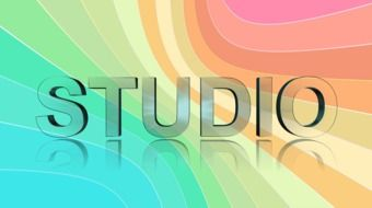 studio, colorful background