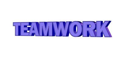 Clipart of teamwork sign