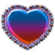 Nicely decorated shining heart of love