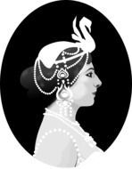 Victorian lady clipart