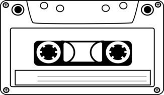 retro cassette tape drawing