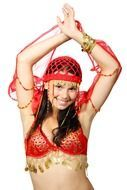 attractive belly eastern costume dance