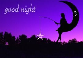 good night postcard