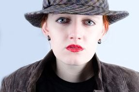 attractive adult woman in hat