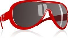 painted red sunglass