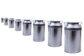 milk zinc cans container storage