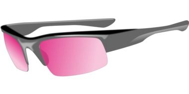 painted sunglasses with pink glasses