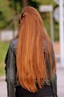 girl with long beautiful hair back view