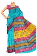 a traditional sari with hand-painted in the fancy style