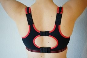 sports bra sport woman back view