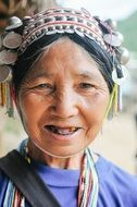 old woman person female mature traditional clothes