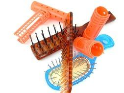 combs and curlers