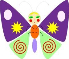 butterfly funny cartoon drawing