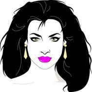 clipart of the fashionable woman