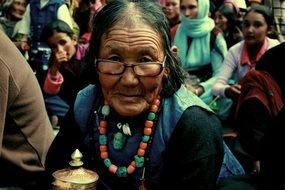 woman old ladakh