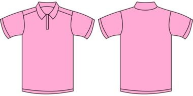 drawn two sides of pink t-shirt