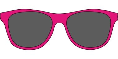 painted pink sunglasses