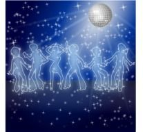 disco ball and dancers drawing