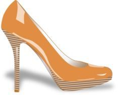 orange high heeled drawing