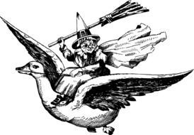 witch on the goose