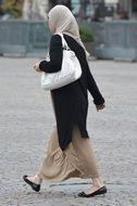 Woman dressed up in hijab