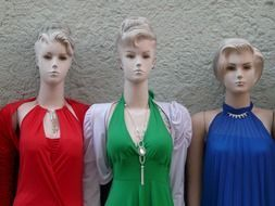 women\'s mannequins in dresses