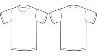 two white t-shirts drawing