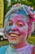 photo of a girl with painted face