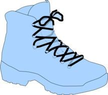 Clipart of single blue boot