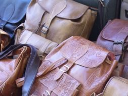 multi-colored leather backpacks on the market