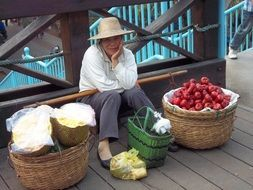 Chinese fruit seller
