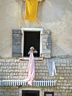 Photo of drying clothes women