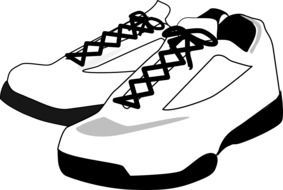 graphic image of white sneakers