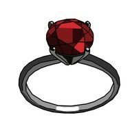 red gem ruby ring drawing