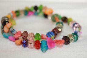 bracelet, colorful stones