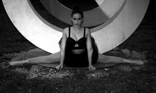 ballerina woman ballet dancer black white photo
