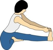 woman doing yoga exercises, illustration