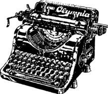 clipart of the vintage typewriter