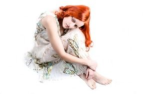 isolated red hair model