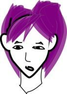 Punk woman with the violet hair clipart