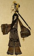 lady young shadow puppet shaanxi