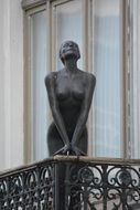 statue of a nude woman on the balcony Belgium