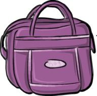 painted purple bag