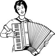 accordion instrument drawing