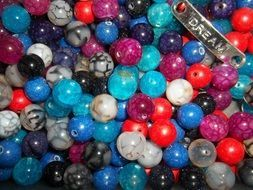 A lot of the colorful beads